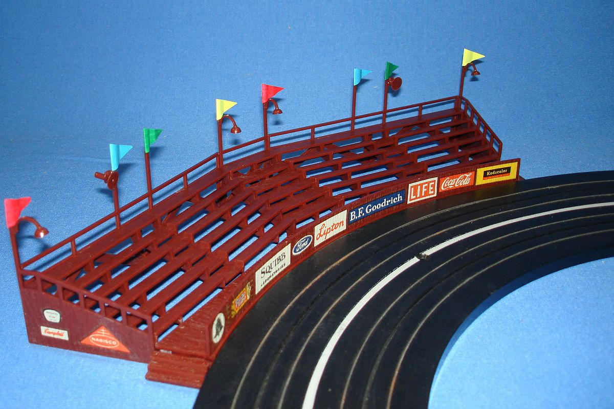 Aurora Model Motoring HO Scale Slot Car Racing Custom Built Curved Bleachers 1456-149 Decals