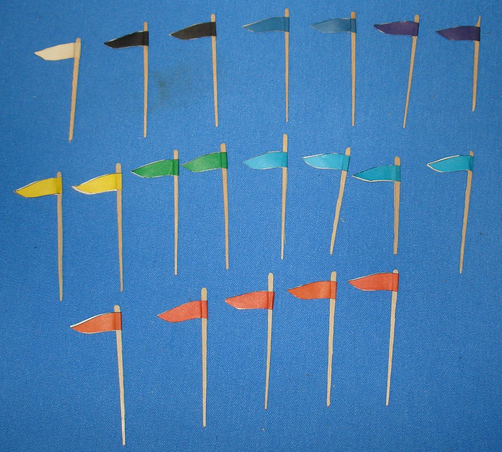 Aurora Model Motoring HO Scale Slot Car Racing Track Layout Pennants