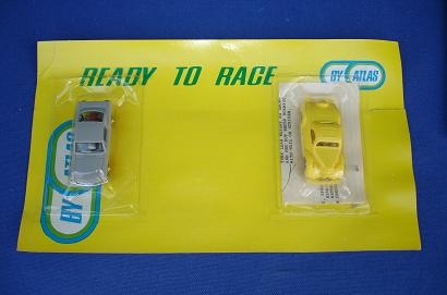 Atlas HO Slot Cars Grey Ford Mustang Fastback Lemon Yellow 1936 Coupe