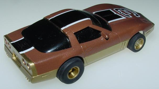 Tyco 440X2 8946 Brown Gold Black 1983 Chevrolet Corvette Trunk