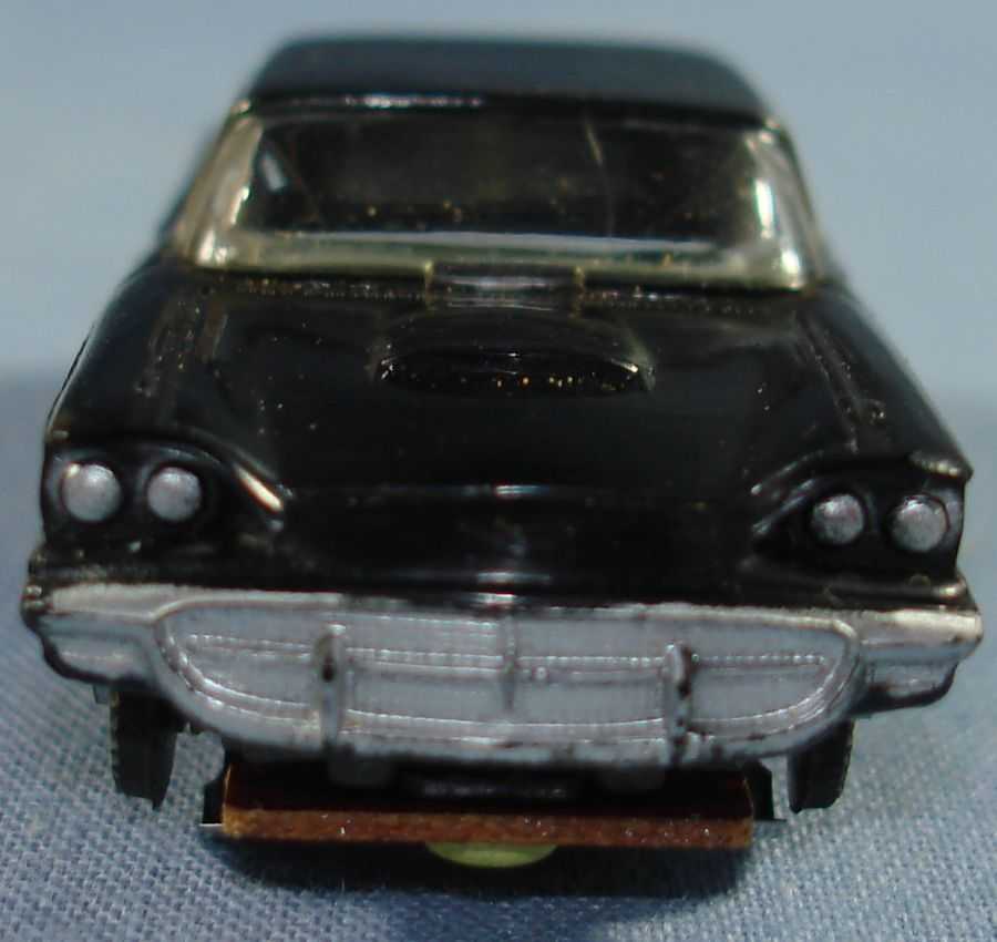Vintage Aurora Model Motoring Vibrator Slot Car Black Ford Thunderbird Grille