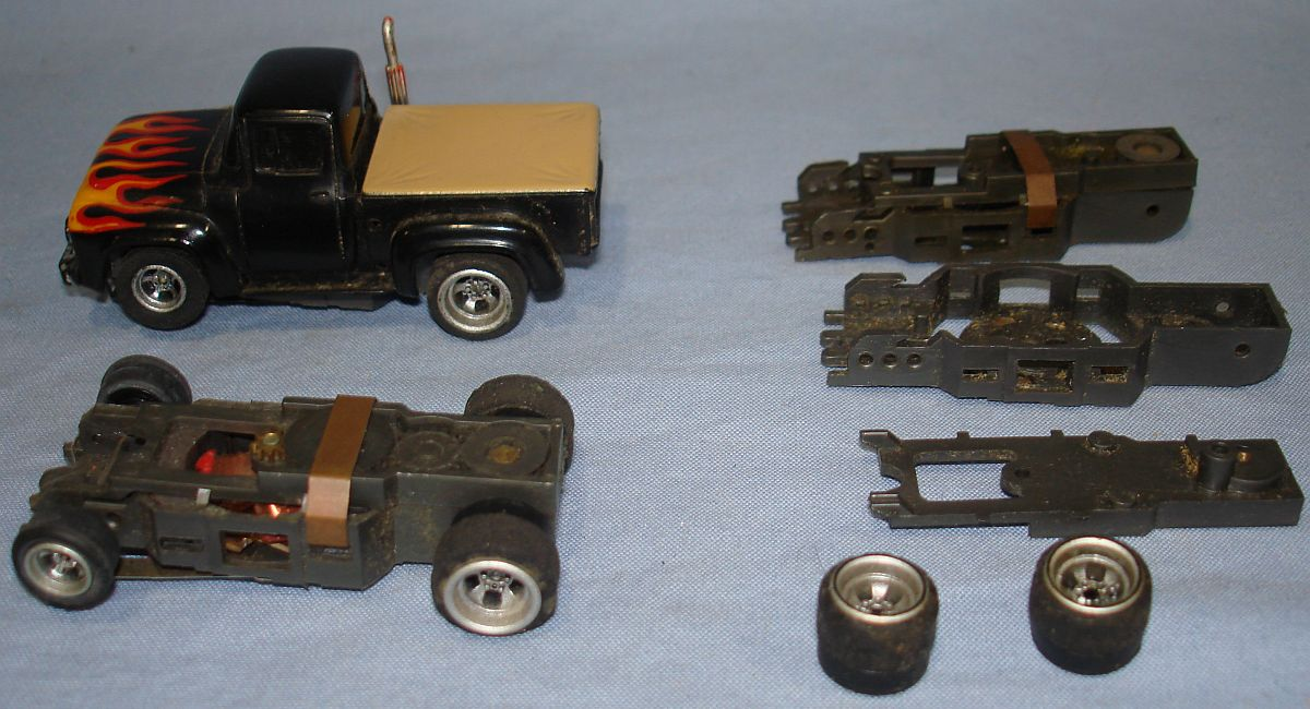 Aurora AFX HO Slot Car Racing 4 Gear Specialty Chassis Lot