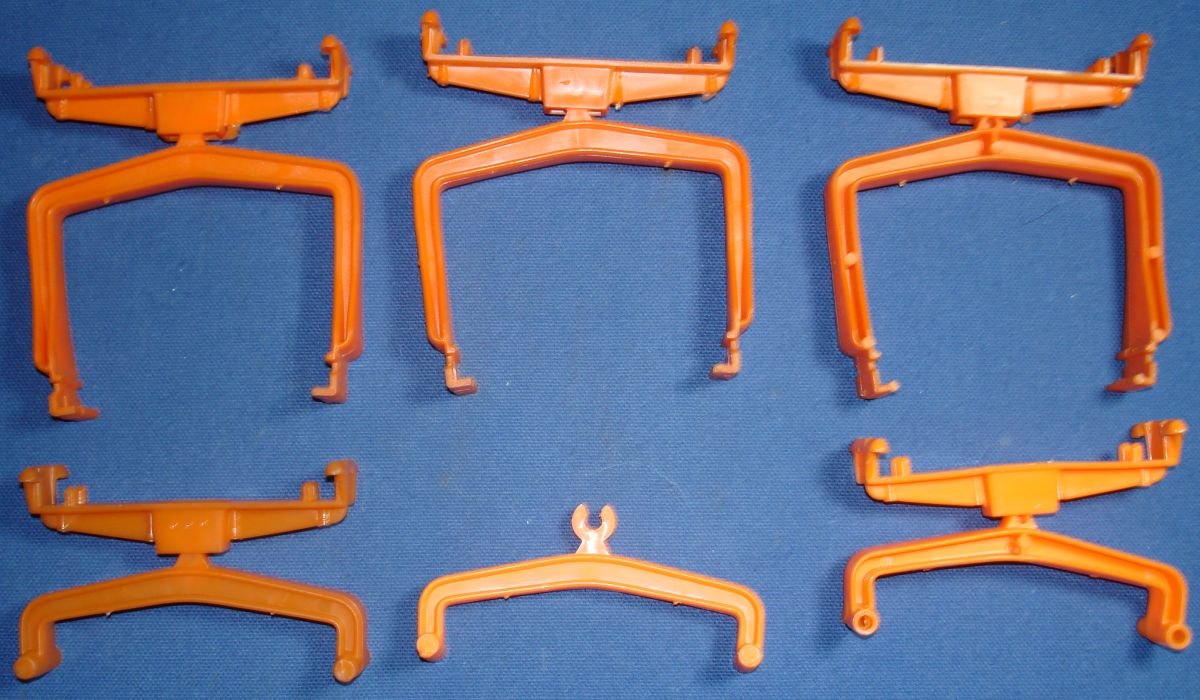 Aurora Slot Car Racing Orange Adjustable SeeSaw X Track Supports