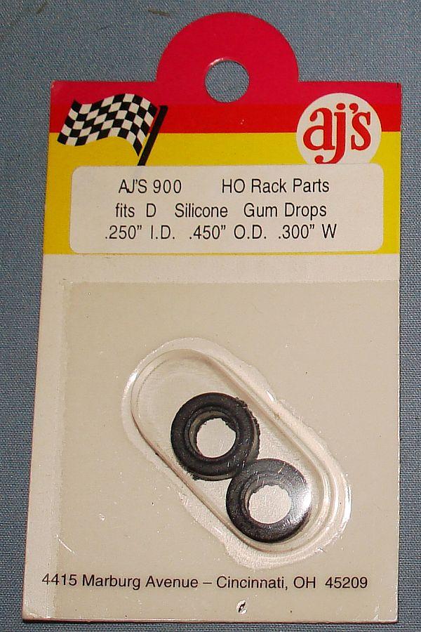 AJs HO Slot Car Racing Silicone Gum Drops Black Tires