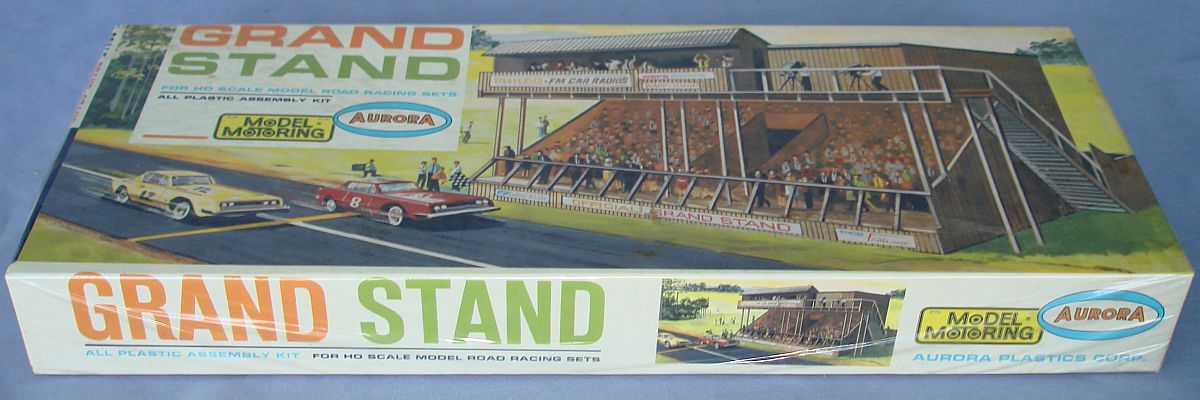 Aurora Model Motoring HO Scale Slot Car Racing Grand Stand Building Kit 1452 Box