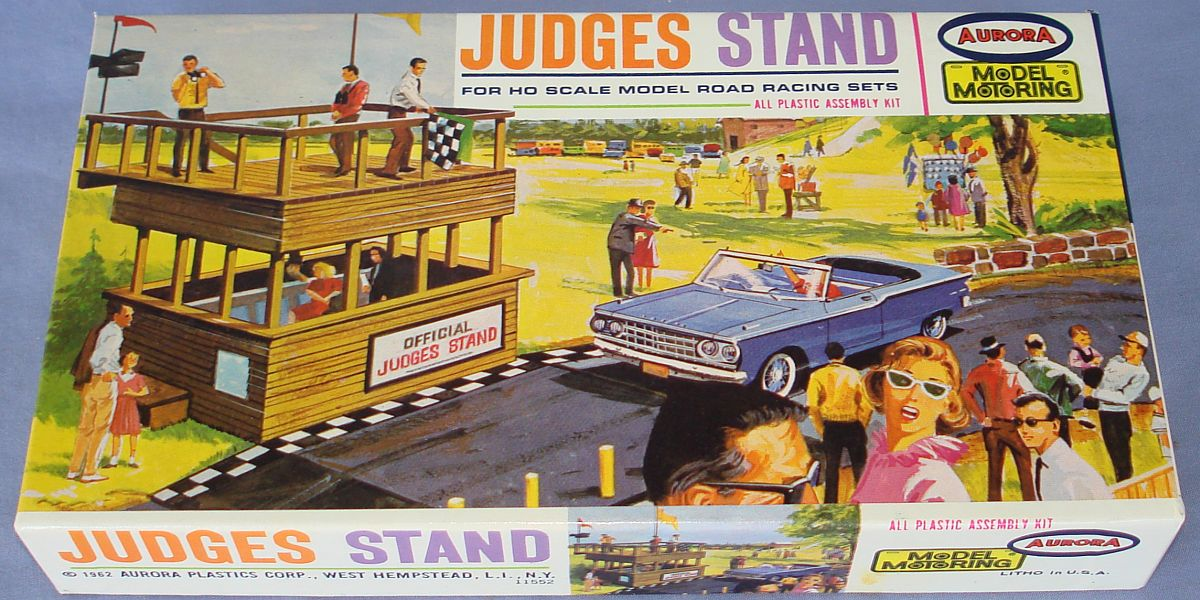 Aurora Model Motoring HO Scale Slot Car Racing Judges Stand Building Kit 1451 Box