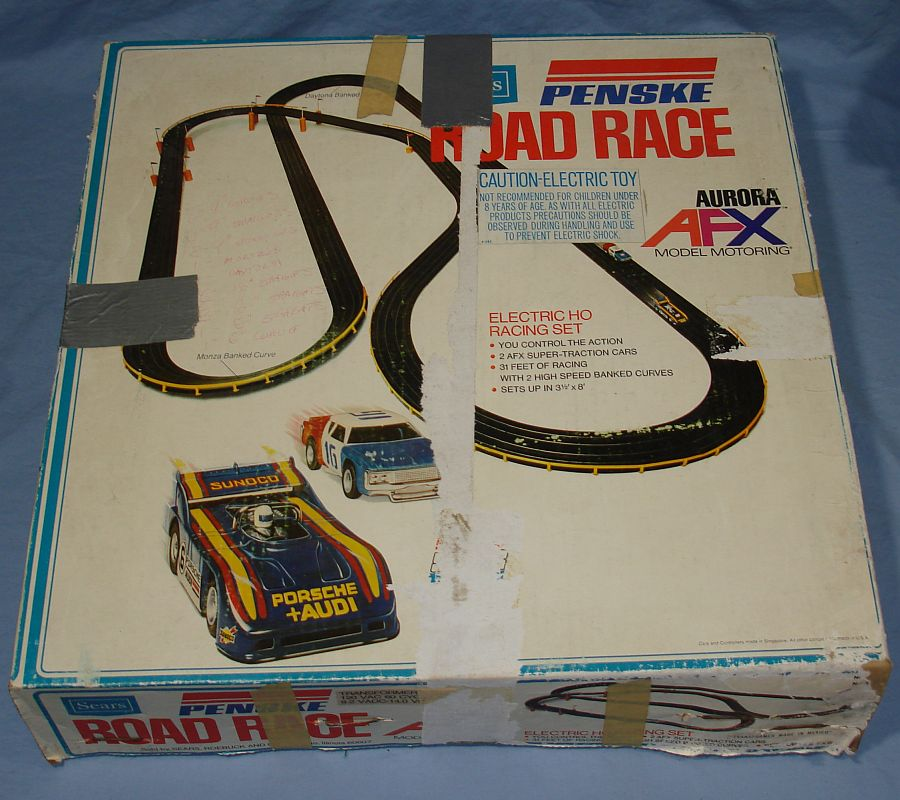 Aurora AFX HO Scale Slot Car Racing Sears Track Road Pace Set Box