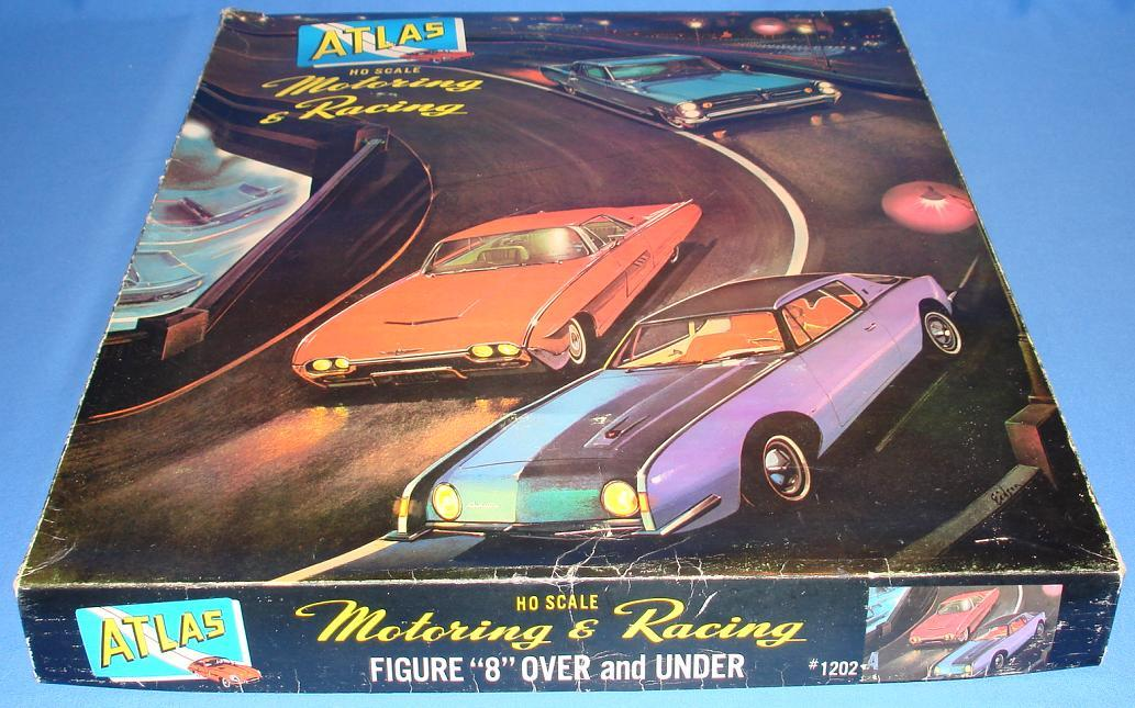 Atlas HO Scale Over & Under Slot Car Racing Track Set #1202A Lid