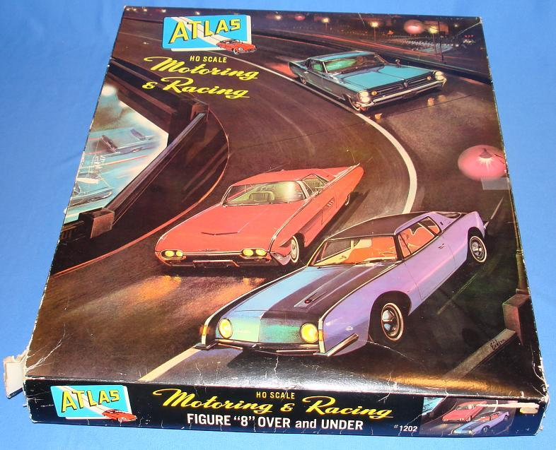 Atlas HO Scale Over & Under Slot Car Racing Track Set #1202 Lid