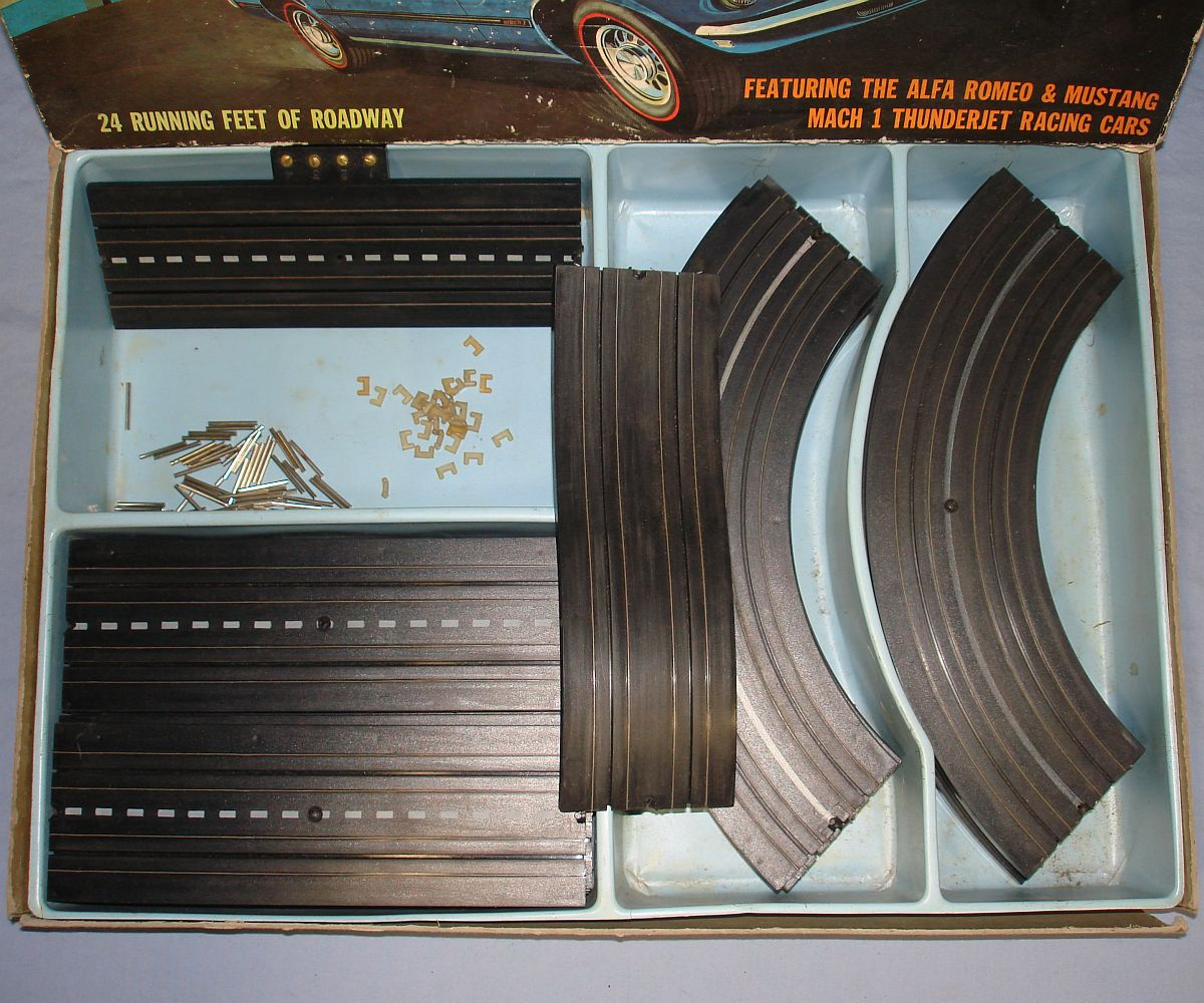 Aurora TJET HO Scale Slot Car Thunder Jet 500 Racing Sears Real Racing Track Set #1980 Box Contents