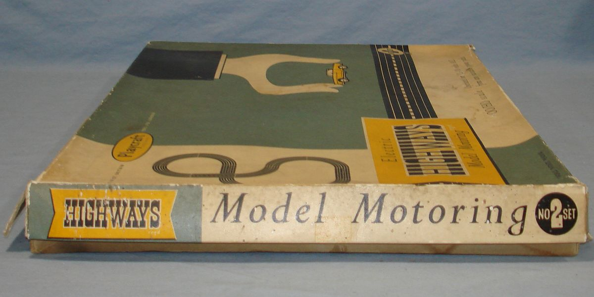 Playcraft Highways HO Scale Electric Model Motoring Slot Car Racing Track Set #2 Box Lid Left Panel