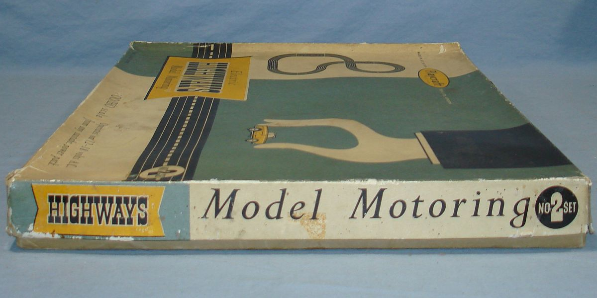 Playcraft Highways HO Scale Electric Model Motoring Slot Car Racing Track Set #2 Box Lid Right Panel