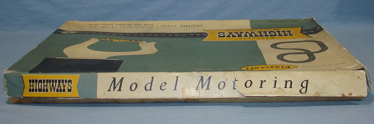 Playcraft Highways HO Scale Electric Model Motoring Slot Car Racing Track Set #2 Box Lid Top Panel