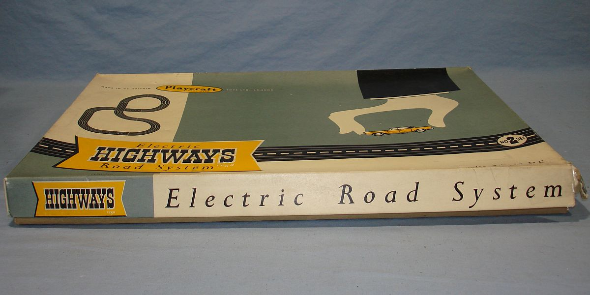 Playcraft Highways HO Scale Electric Road System Slot Car Racing Track Set #2 Box Lid Bottom Panel