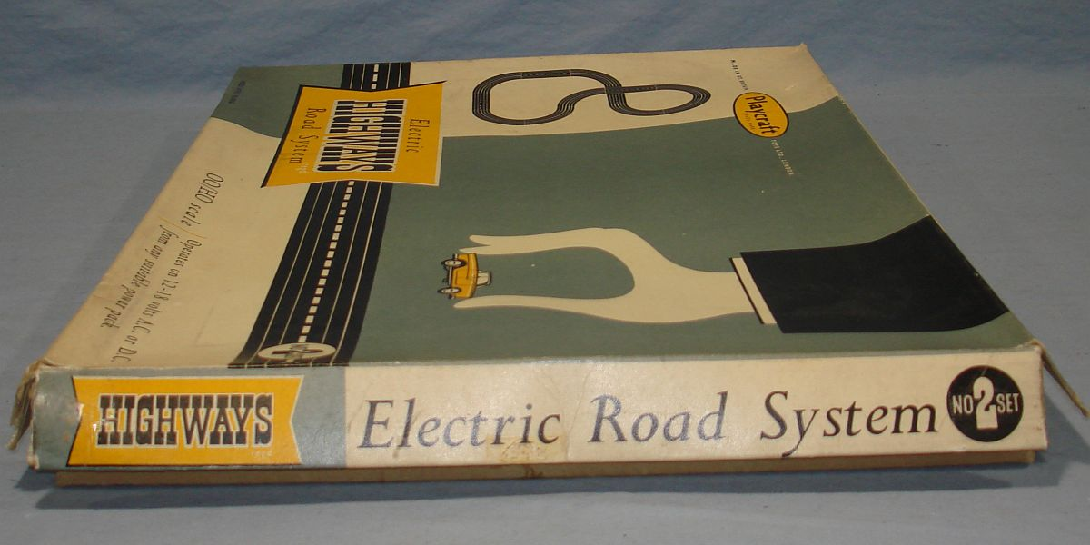 Playcraft Highways HO Scale Electric Road System Slot Car Racing Track Set #2 Box Lid Right Panel