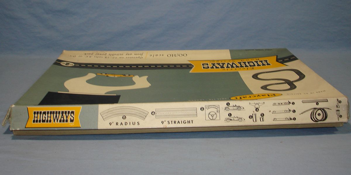 Playcraft Highways HO Scale Electric Road System Slot Car Racing Track Set #2 Box Lid Top Panel