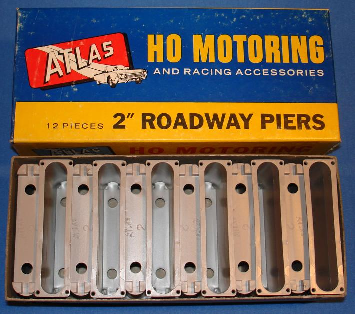 Atlas HO Slot Car Track 2 Inch Roadway Piers Stock Number 1251
