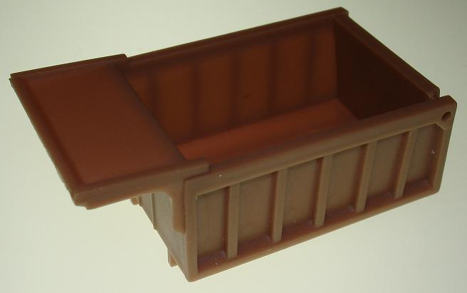 Aurora Prototype Tan Slot Car Dump Truck Bed Closed Tailgate