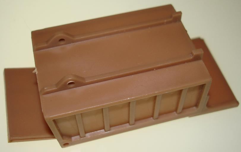 Aurora Prototype Tan Slot Car Dump Truck Bed Underneath