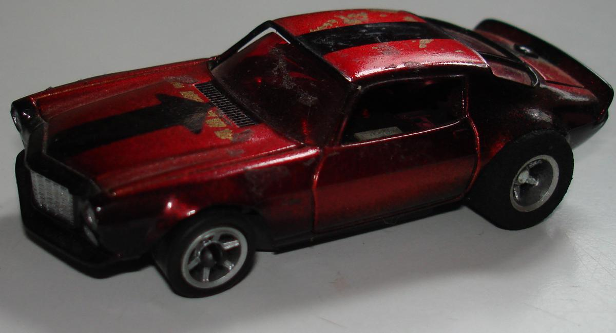 AFX Chevroltet Camaro Hand Built Candy Apple Red Chrome Slot Car Prototype Driver Side Door