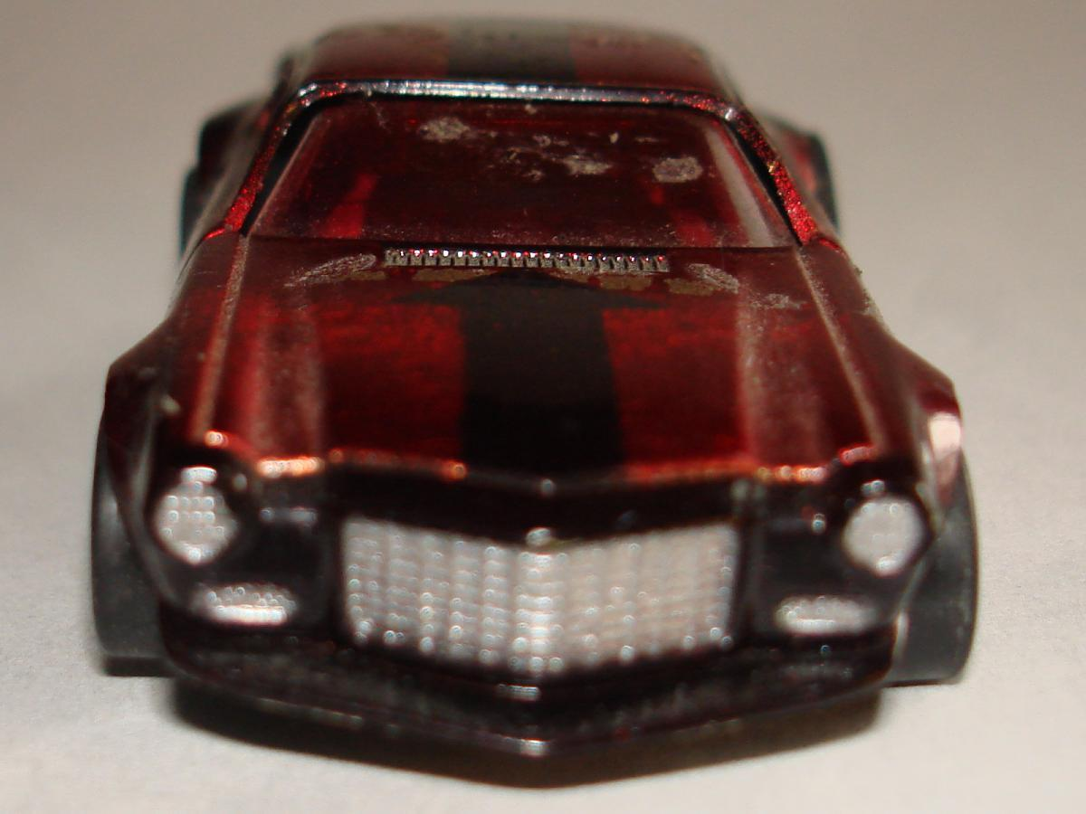 AFX Chevroltet Camaro Hand Built Candy Apple Red Chrome Slot Car Prototype Front Bumper & Hood