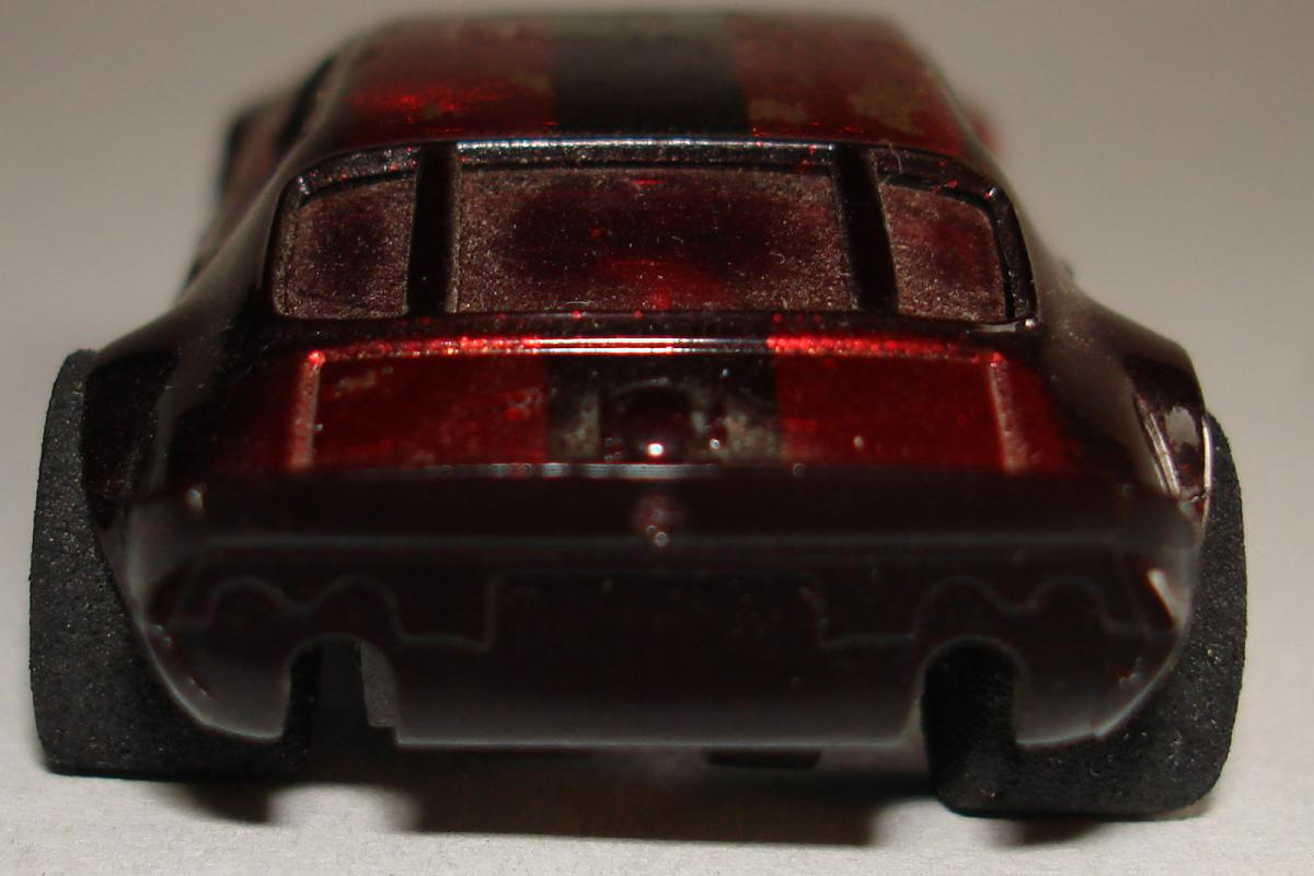 AFX Chevroltet Camaro Hand Built Candy Apple Red Chrome Slot Car Prototype Rear Bumper & Trunk
