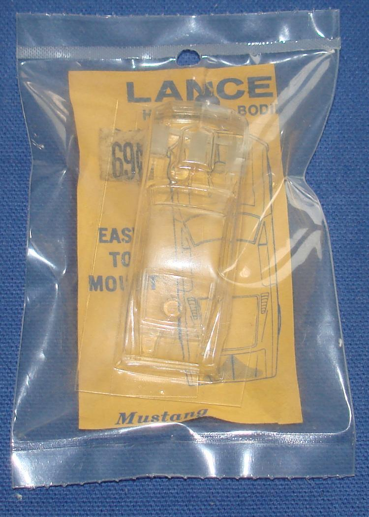 Lancer HO Scale Clear Slot Car Body Kit 702 Ford Mustang