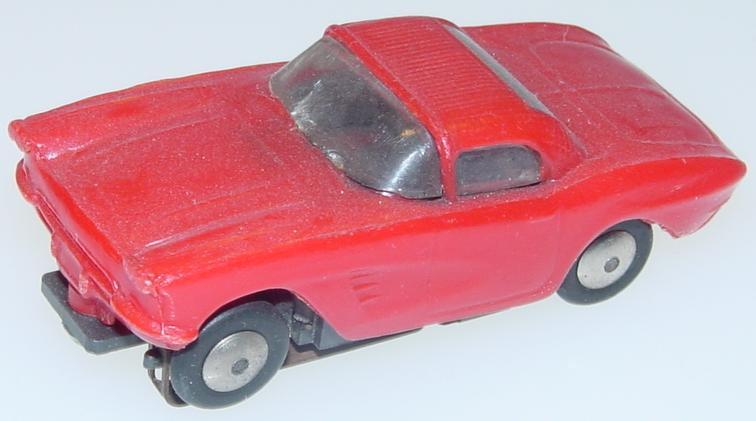Marx HO Scale Red Chevrolet Corvette Slot Car Runner Hood