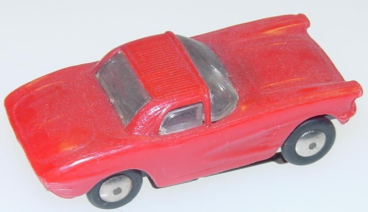 Marx HO Scale Red Chevrolet Corvette Slot Car Runner Trunk