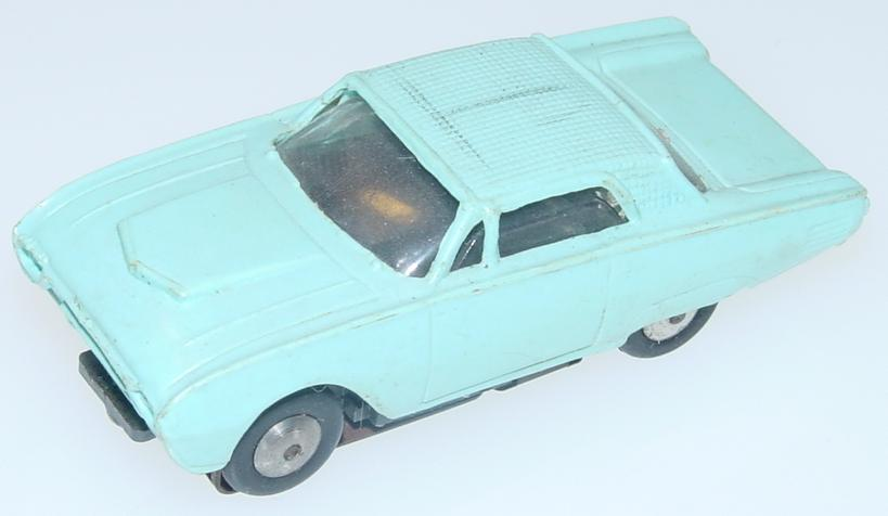 Marx HO Scale Light Blue Ford Thunderbird Slot Car Runner Hood