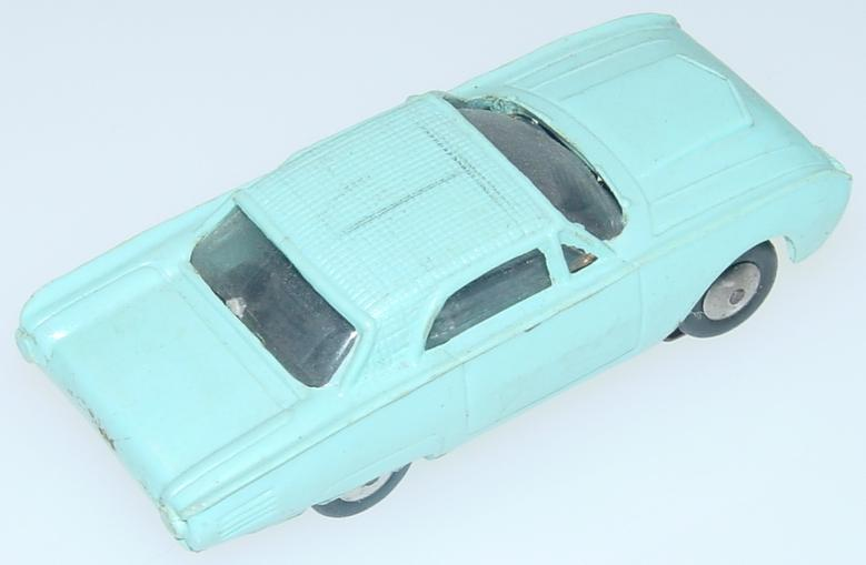 Marx HO Scale Light Blue Ford Thunderbird Slot Car Runner Trunk