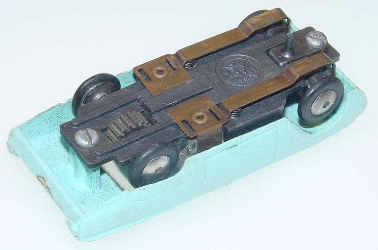 Marx HO Scale Light Blue Ford Thunderbird Slot Car Runner Chassis
