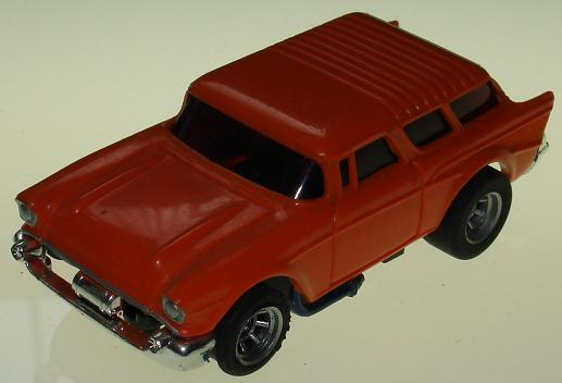 AFX 57 Chevy Orange Slot Car Hood