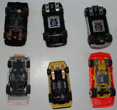 Box 38 Various HO Slot Car Runners Chassis