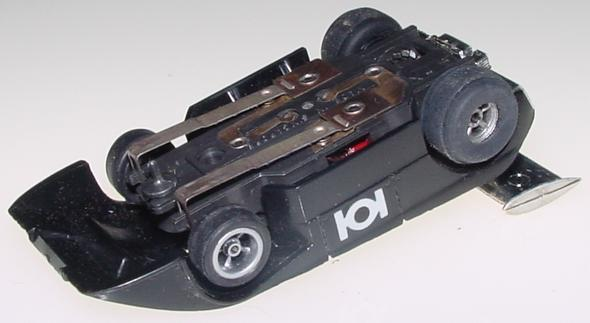 Aurora AFX Shadow Can Am Black HO Scale Slot Car Runner Chassis