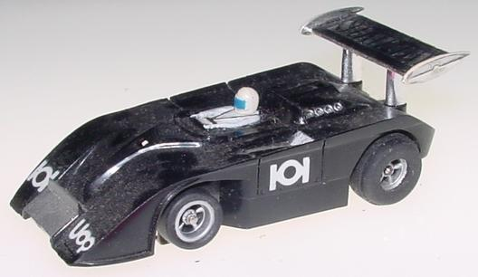 Aurora AFX Shadow Can Am Black HO Scale Slot Car Runner Hood