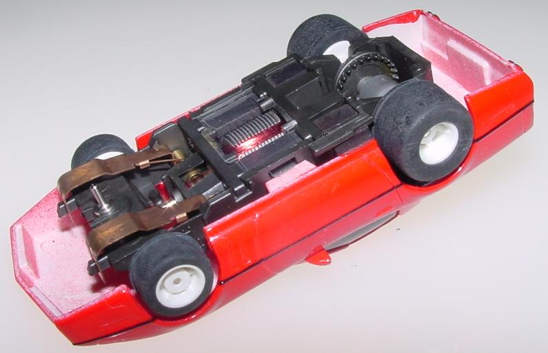 Tyco Red Chevrolet Corvette HO Scale Slot Car Runner Chassis