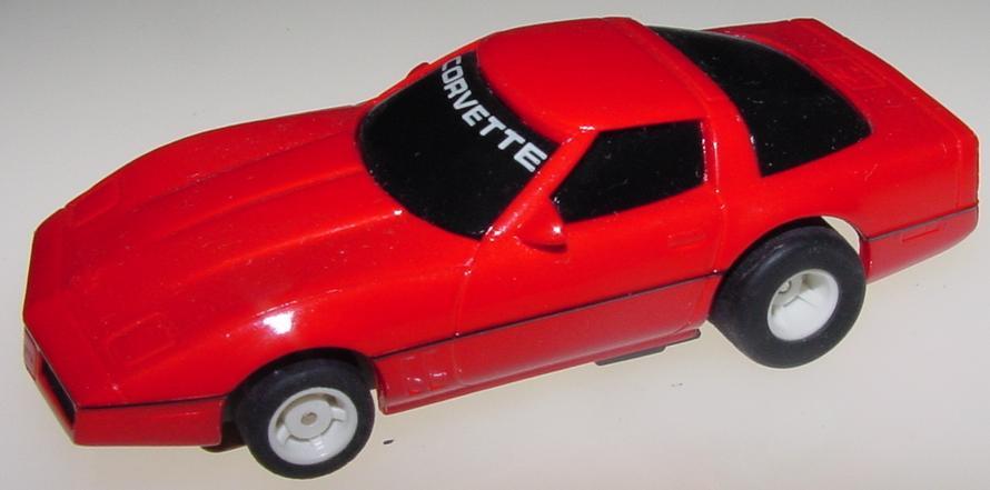 Tyco Red Chevrolet Corvette HO Scale Slot Car Runner Hood Roof