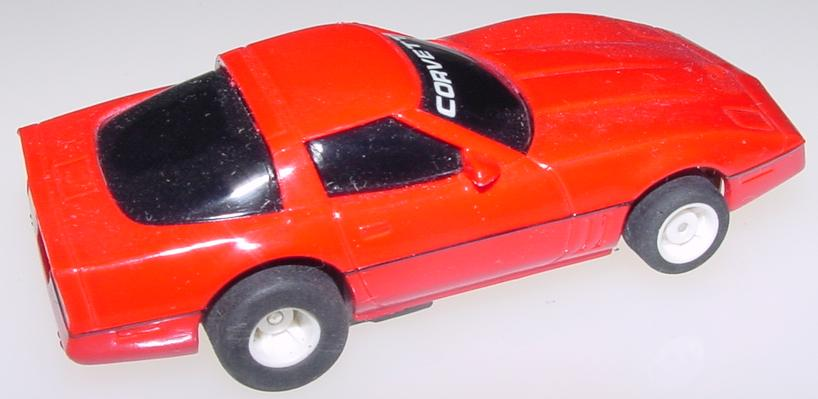Tyco Red Chevrolet Corvette HO Scale Slot Car Runner Trunk
