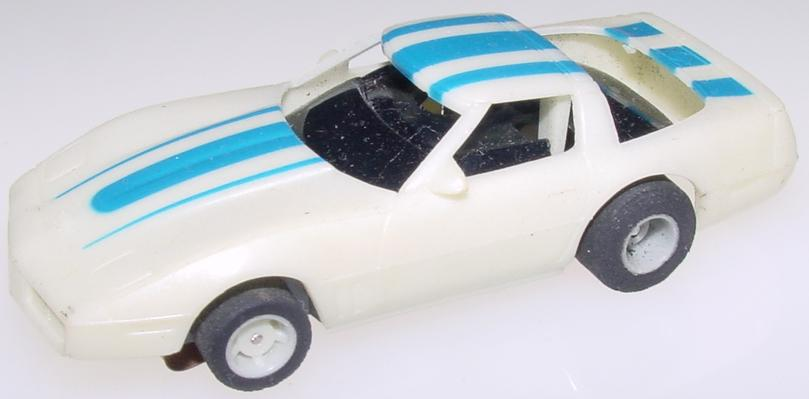 Tyco Chevrolet Corvette HO Slot Car Runner Hood Roof
