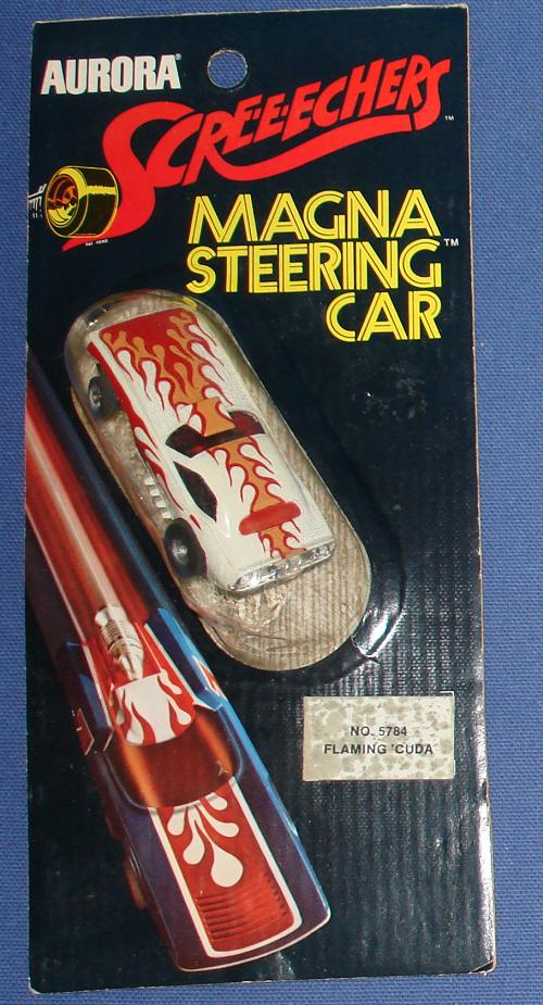 Aurora Screeechers Flaming Baracuda HO Magna Steering Slot Car