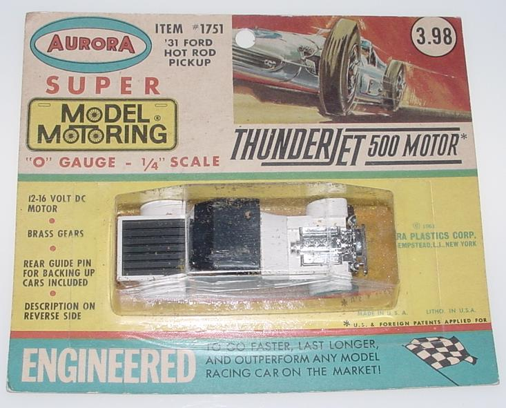 Aurora Super Model Motoring 1/4 Scale O Gauge Slot Car Racing Hot Rod #1751