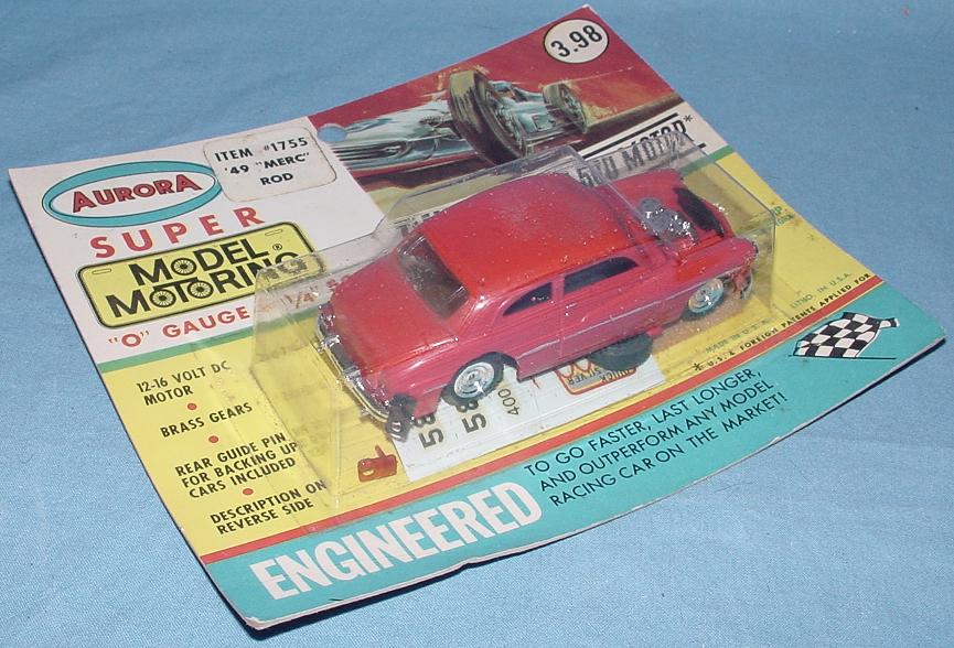Aurora Super Model Motoring 1/4 Scale O Gauge Slot Car Racing 49 Merc Hot Rod #1755