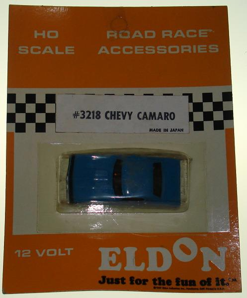 Eldon HO Ready To Race Slot Car Racing Blue Chevrolet Chevy Camaro #3218