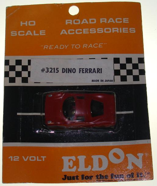 Eldon HO Ready To Race Slot Car Racing Red Dino Ferrari #3215