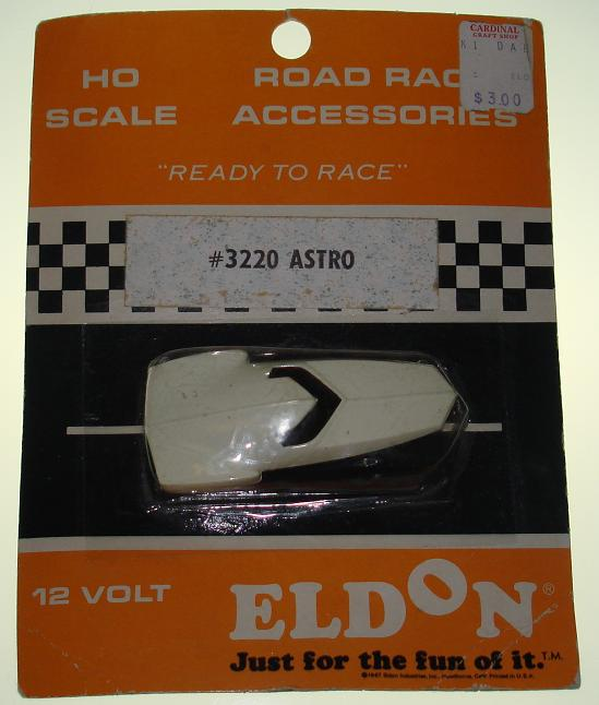 Eldon HO Ready To Race Slot Car Racing White Astro #3220