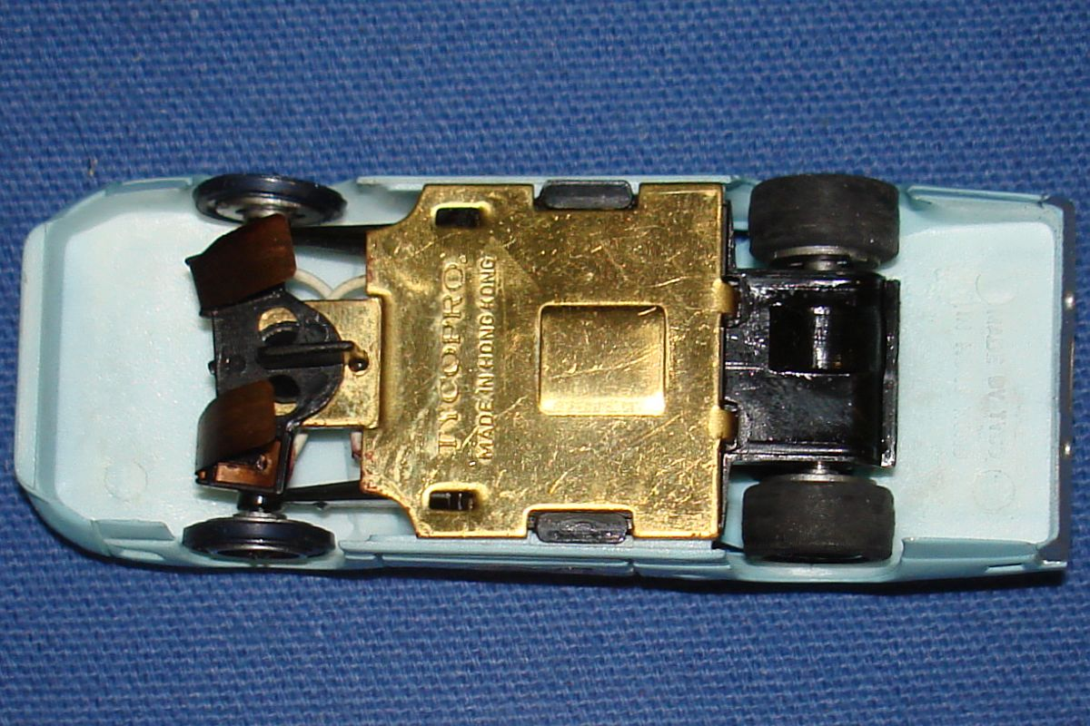 Tycopro Real Racing Richard Petty #43 Superbird 8833 Slot Car Brass Chassis Made In Hong Kong