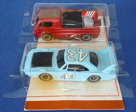 Tycopro Real Racing Richard Petty #43 Superbird 8833 Trick Truck 8832 Slot Cars Driver Side Doors