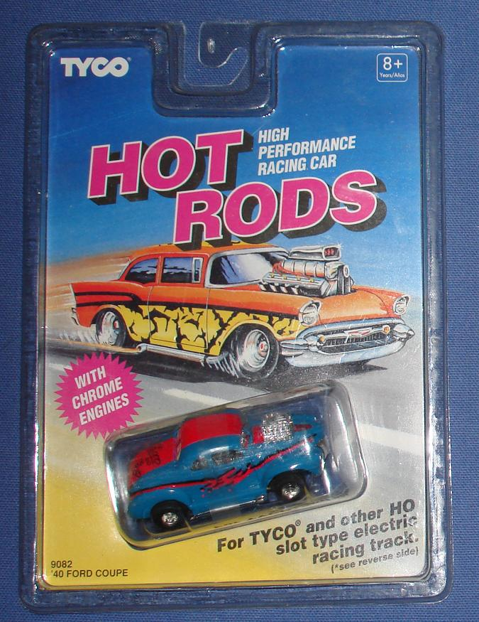 Tyco HO 1940 Ford Coupe Blue & Red Slot Car
