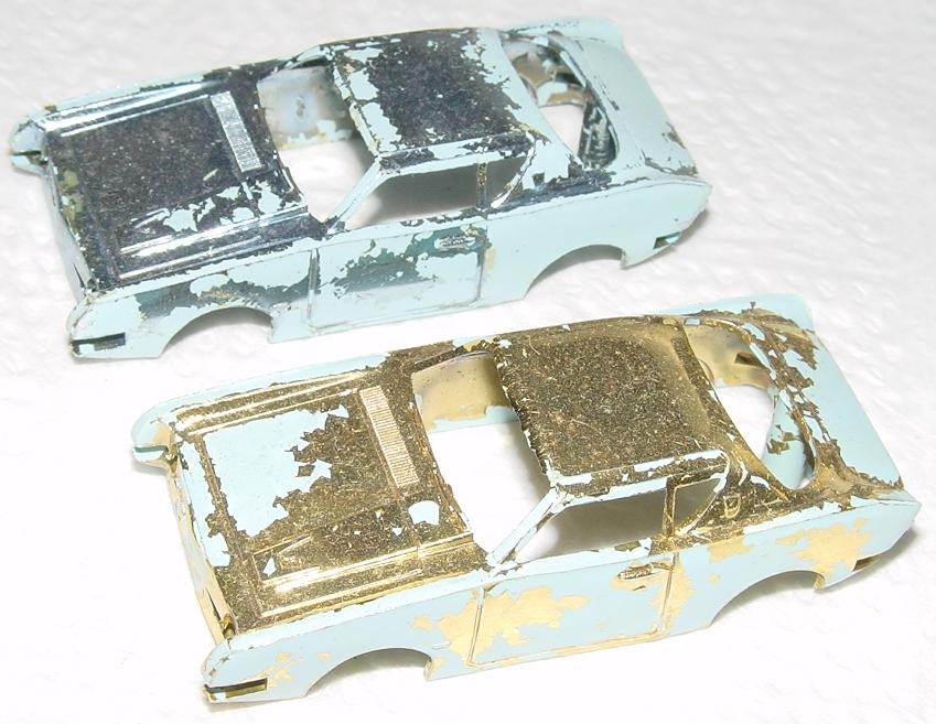 ATLAS HO SLOT CAR BODY LOT STUDEBAKER AVANTI CHROME PLATED BODIES GOLD SILVER
